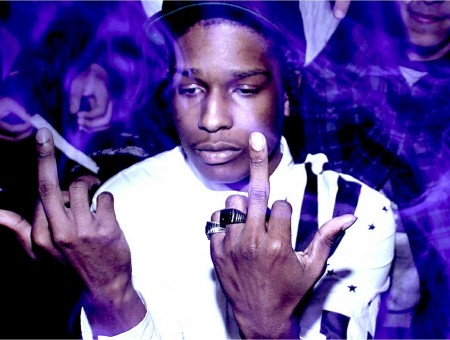 A$ap Rocky in purple smoke