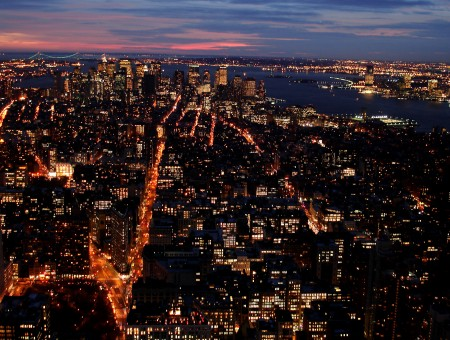 New York in night