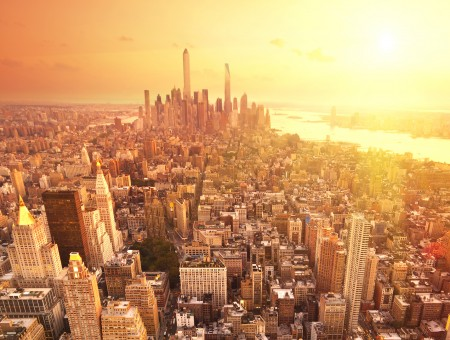 New York City in sunny day
