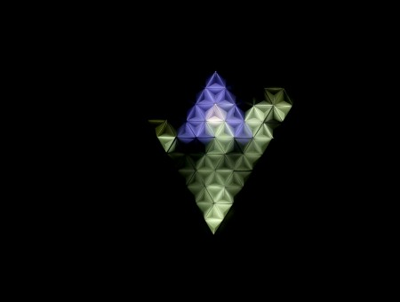 Abstraction from multicolored triangles