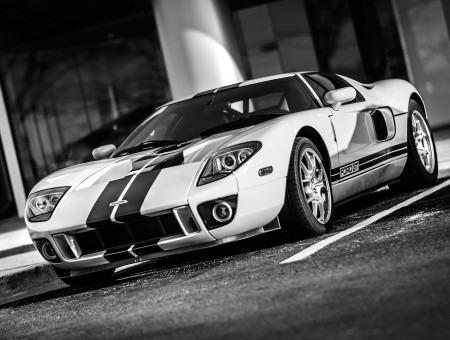 Fantastic Ford GT on the parking