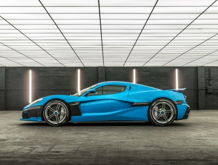 Rimac C Two in garage