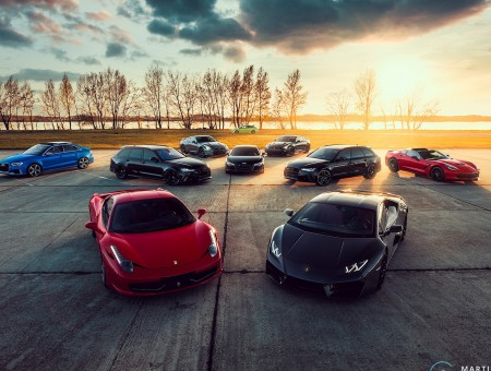 Best supercars on parking