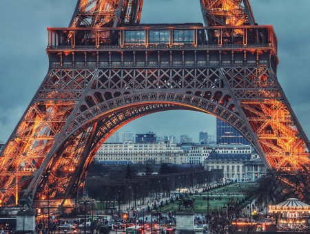 Light Eiffel Tower in Paris