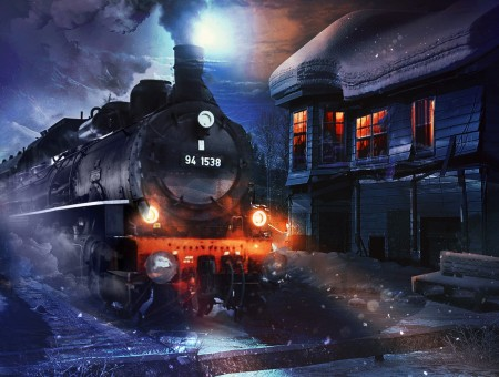 Night train art
