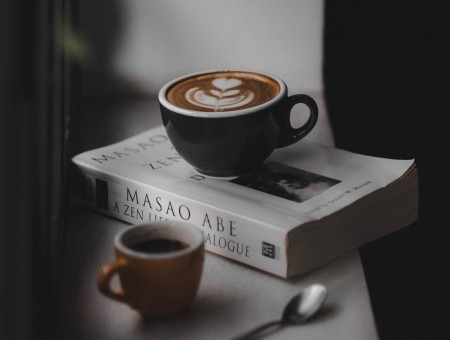Coffe on book